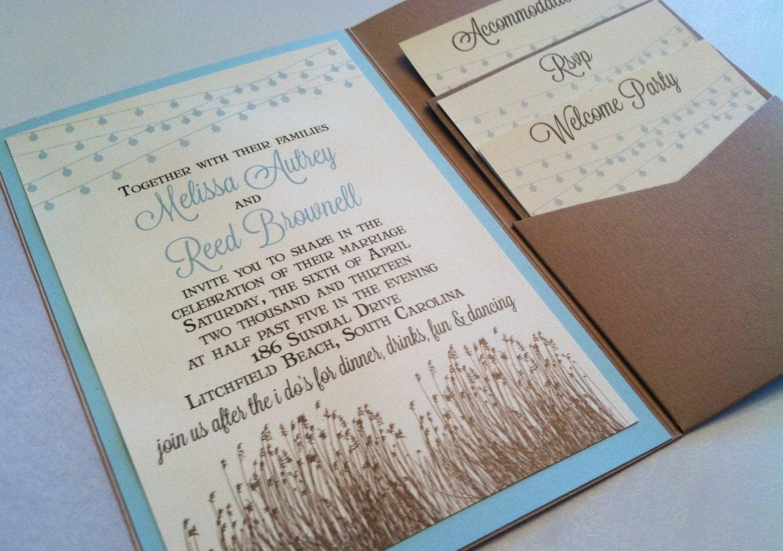 Backyard Wedding Invitation: Low Country/Beach Backyard Wedding Invitation