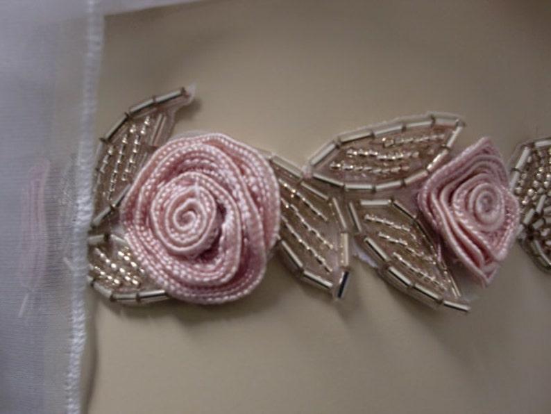 Beaded Bridal Garter in Pink or Blue