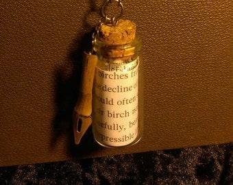 Glass Bottle & Nib Necklace