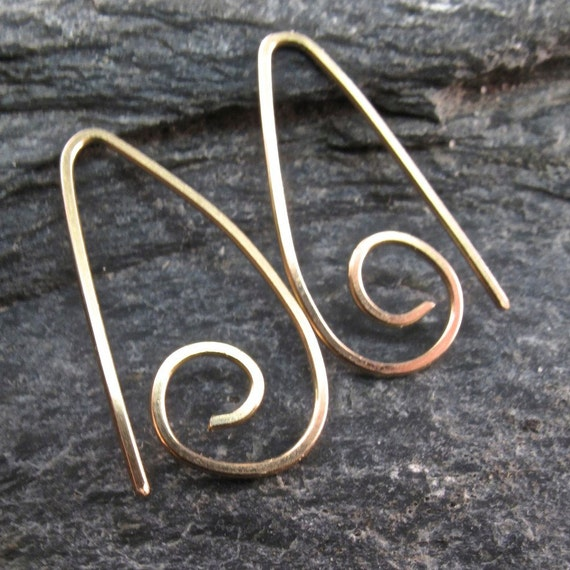 14k GOLD HOOP earrings . goldfilled small sleeper . ear wire . minimal earrings.  nickel free. child. rose gold . yellow gold  No.00E302