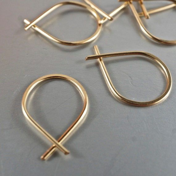 Tiny Hoop Earrings - Sleepers - Extra Small earrings - Tiny  Earrings  -  Argentium - Gold - Niobium - Christian Earrings o.00E171