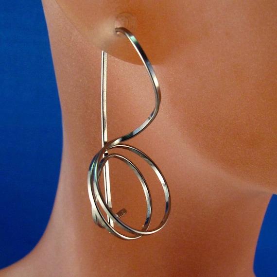 Niobium Jewelry. NIOBIUM  EARRINGS.  Choose Color. Niobium Wire Earrings. Men Niobium Earrings. Locking Hook. Nickel Free. Allergies