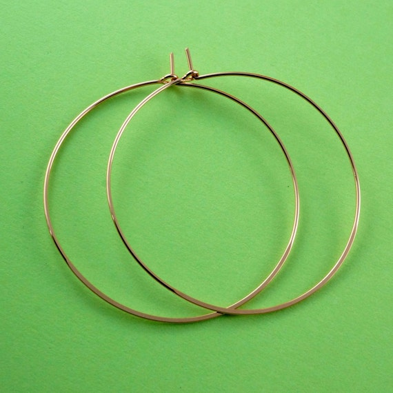 Large Gold Hoop Earrings - gold hoop earring - large gold filled hoops -  gold hoops -  2 inch to 4 inch  - Cecile Stewart Jewelry No.00E133