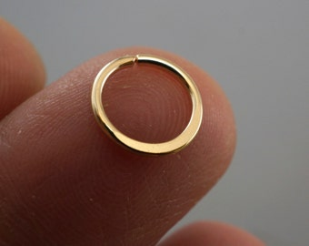 SEPTUM RING - Cartilage hoop. 18g - piercing hoop - endless hoop  - eyebrow - nose - belly button - helix hoop No.00503 od