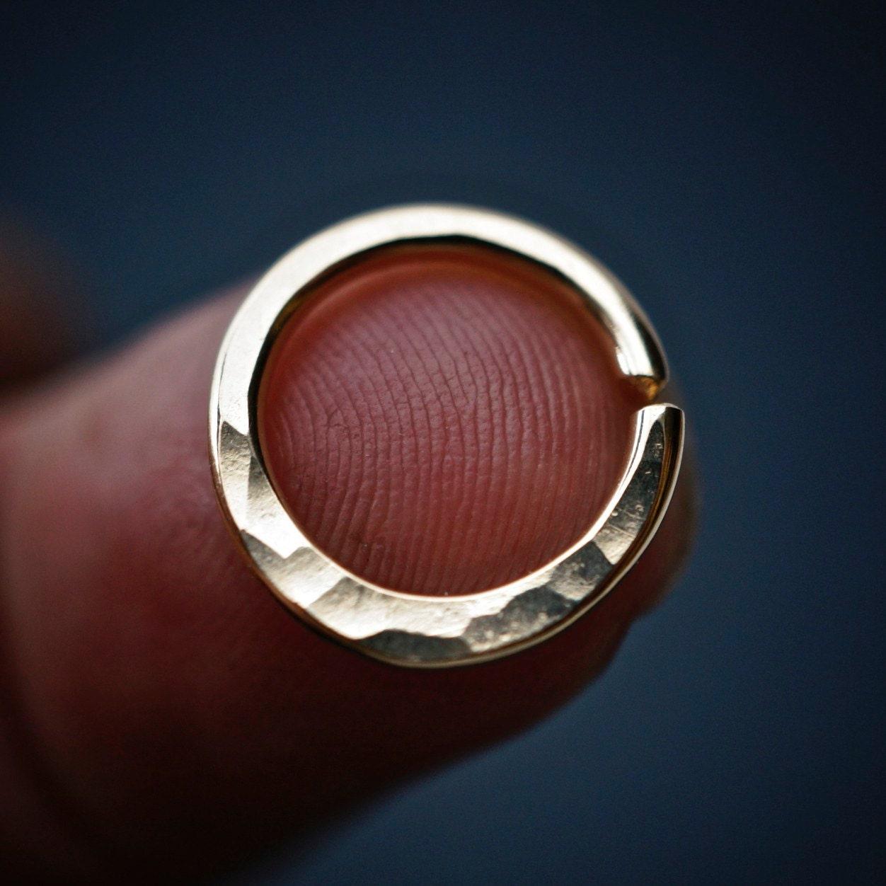 Septum Ring Cartilage Hoop 14g Earring 14 Gauge Hoop Nipple Ring Nose Belly Hammered Body Jewelry No 00503