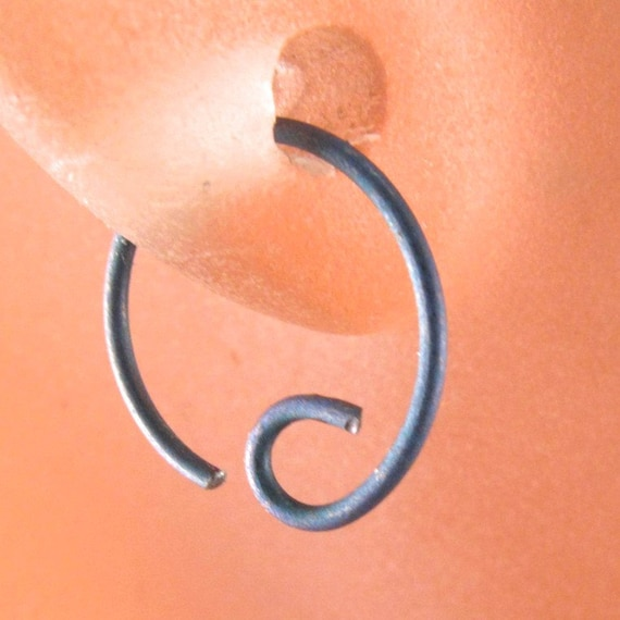Tiny  TITANIUM hoop EARRING. cartilage hoop.  22g nose ring.  brow piercing. tragus. sleeper. hypoallergenic  No.00E252