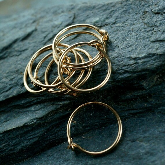 cartilage earring HOOP - gold filled - argentium sterling silver - niobium - nose. half inch - 13mm Cecile Stewart Jewelry No.00E333