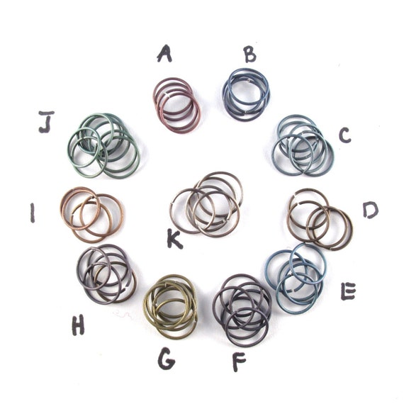 fine wire  TITANIUM  HOOP EARRING - cartilage ring - helix - 12mm 22 gauge hoop - septum ring - nose ring - conch - nickel free No.00E27