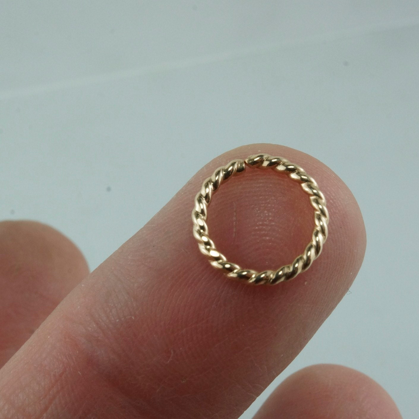16 gauge SEPTUM JEWELRY. Rose Gold Septum Hoop. Gold NOSE ring ...