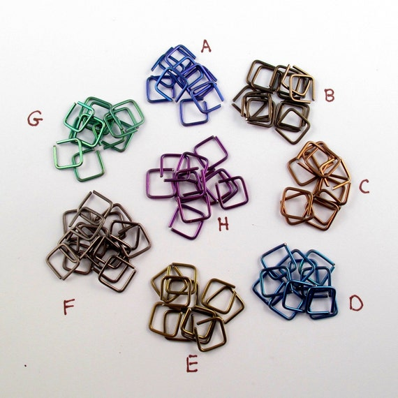 Niobium Septum. Niobium CARTILAGE Hoop. Niobium Conch - Square HOOP - Nose Ring -  Piercing - Geometric - Coloured Niobium Jewelry