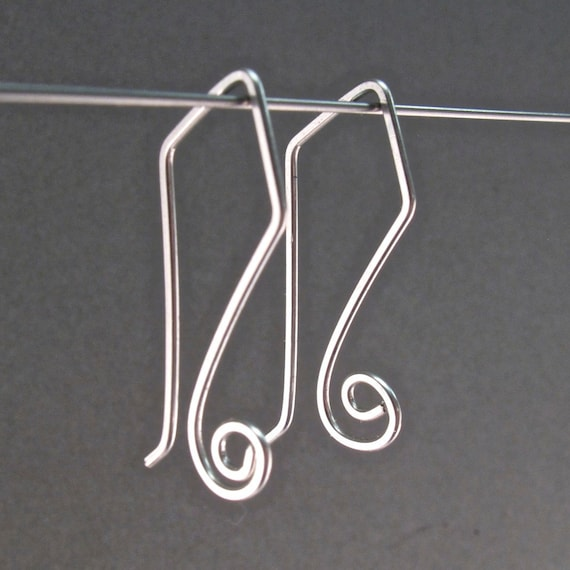 STERLING SILVER EARRINGS. Earring Hooks.  Interchangeable Earrings. sleeper ear wires. Shepherd Hooks  .   No.00E164