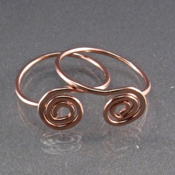 Tiny ROSE GOLD hoop earrings. gold sleeper earrings .small  earrings . child earring.  half inch spiral hoop ear No.00E188