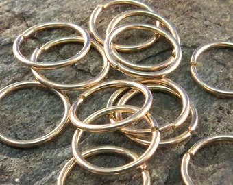 Cartilage Ring - Gold Nose Ring 20g - Nose Hoop - Septum Hoop - Cartilage Hoop - Helix - Conch -  Sterling Silver - Niobium No.00E278
