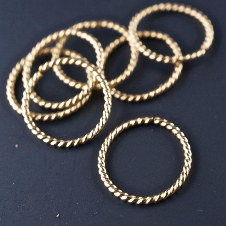 catchless earring brow 10mm  hoop septum wire No.00E500 endless 20 gauge cartilage ring 14 kt GOLD twist wire piercing