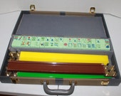 Vintage Mahjong Game Set Mah Jongg 162 Mint Green Tiles