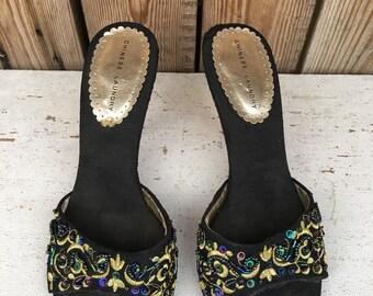 541966a5ba3 Chinese Laundry Black Embellished Cork Heel Shoes  UNDER 20   Size 7 Medium