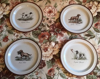 Hunting dog plates | Etsy