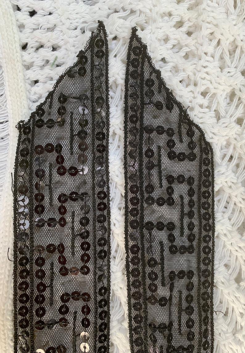 Sheer Black Sequin Belt FREE SHIPPING