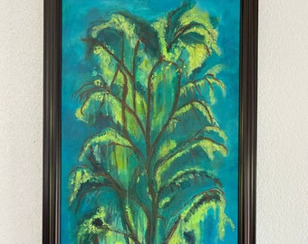 The Drifting Willow Framed Canvas