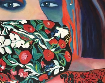 Eyes of the Artist, Oil Painting by Trish Vernazza