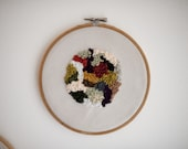 French Knot Circle Wall Art Hoop (free gift wrap)