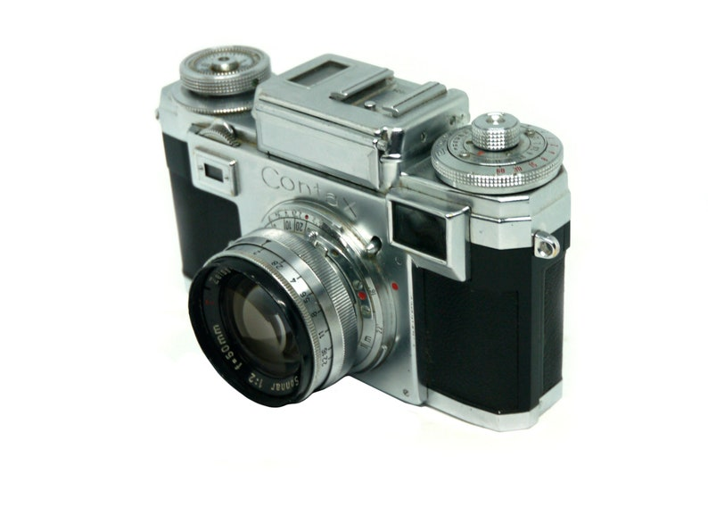 Contax IIIa 35mm rangefinder film camera with Zeiss 50 f2 0 lens, tested  and working