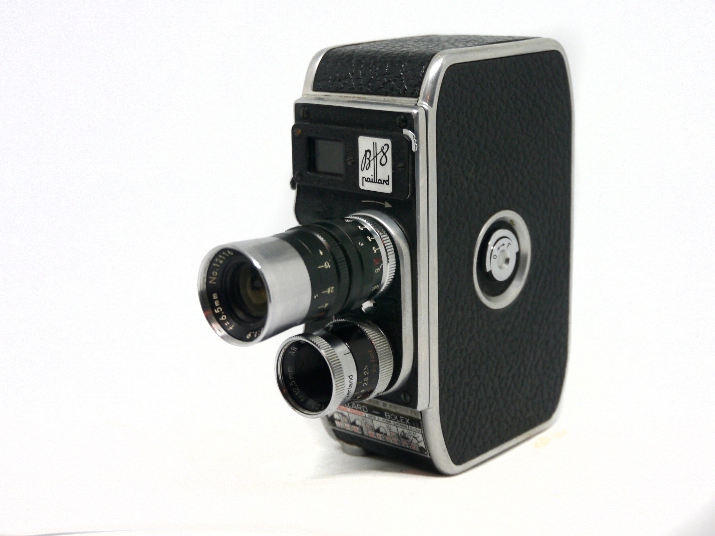 Beautiful compact Bolex Paillard B8 D mount 8mm movie camera