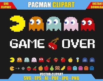 Pacman Svg Etsy
