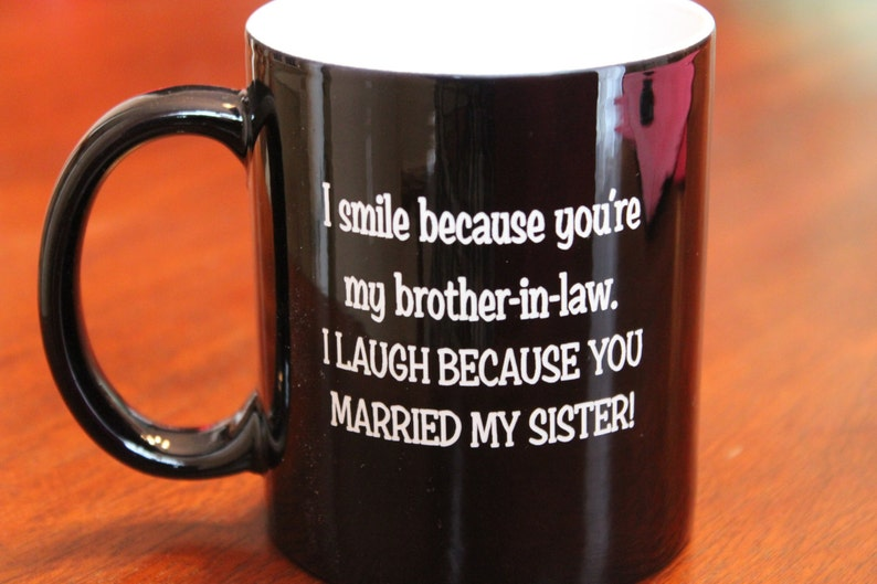 Engraved Coffee Cup Brother In Law Personalized Birthday Gift Christmas