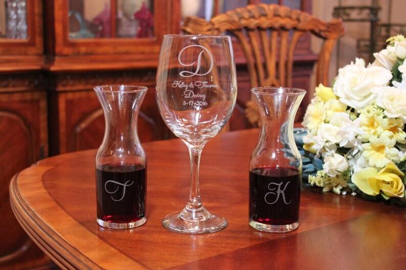 Engraved Wine Ceremony Set Personalized Unity Wine Set image 0