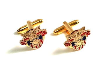 Cuff Links | USMA Small Crest | Army West Point | Army Gift for Him | Military Wedding | Old Grad | Cadet Dad | Gift Idea | Hope Design Ltd