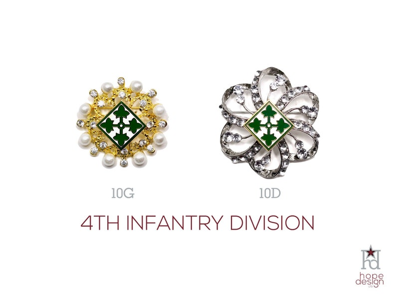 4th Infantry Division Brooch | US Army 4ID Jewelry| Veteran | Military  Jewelry | Military Wife | Military Gift | Army Mom | 10D 10G