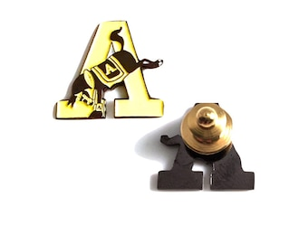 Lapel Pin | USMA Yellow Army A | Army West Point | Army Gift | Old Grad | Cadet | Tie Tack | Hope Design Ltd | Go Army | Cadet Dad Brother
