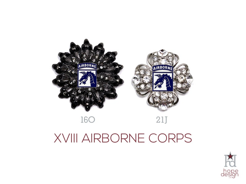 XVIII Corps Brooch | US Army Jewelry | Fort Bragg Veteran | 18th Airborne |  Military Wife | Military Gift | Army Mom | Hope Design | 21J 16O