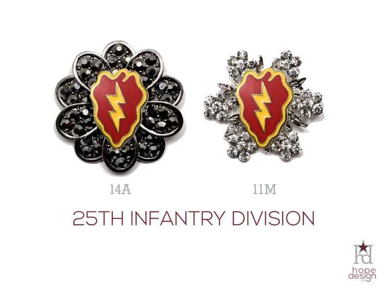 25th Infantry Division Brooch | US Army 25ID Jewelry | Veteran | Military  Jewelry | Military Wife | Military Gift | Army Mom | 11M 14A