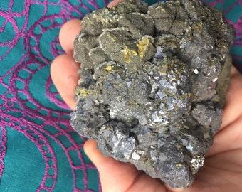 Huge Stunning Druzy Galena Crystal Mineral Specimen