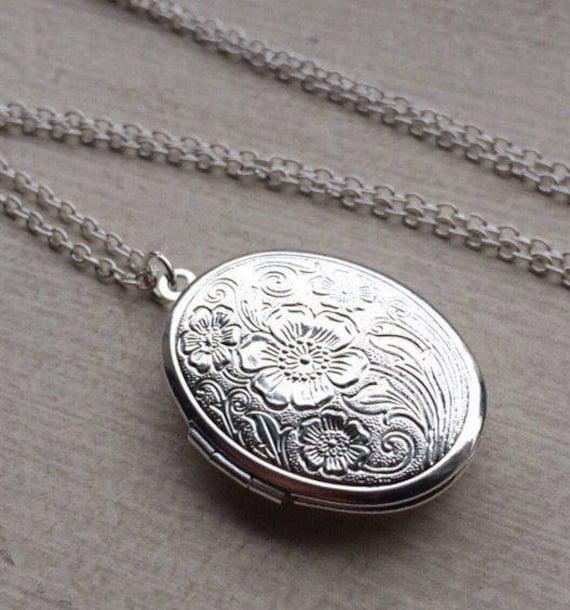 Sale-Silver Monogram Locket-GEB