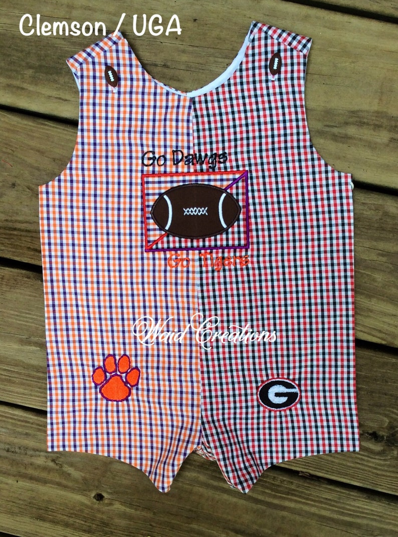 House divided baby boy LONG ALL romper college team divided romper