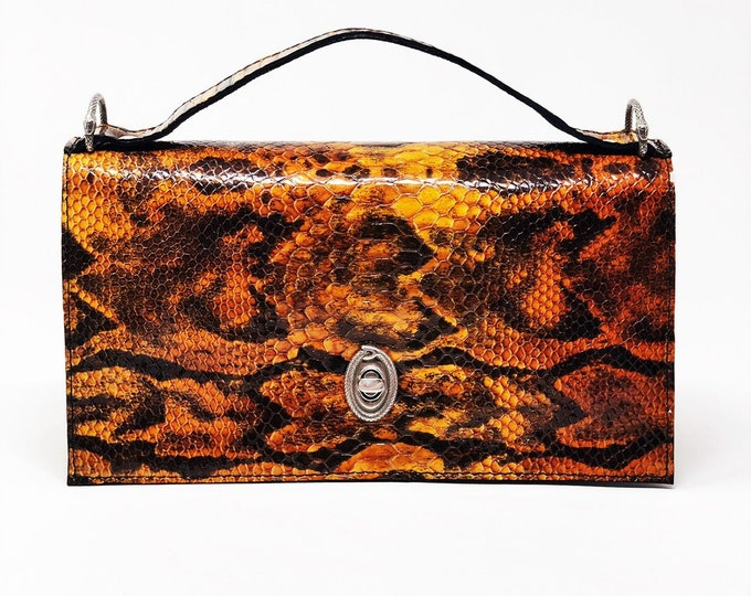 Featured listing image: Amber Python Satchel