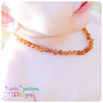 Children's Amber Necklace R5- 12 inches - Baltic Amber Necklace - Teething Necklace - Amber Teething Necklace - Genuine Baltic Amber