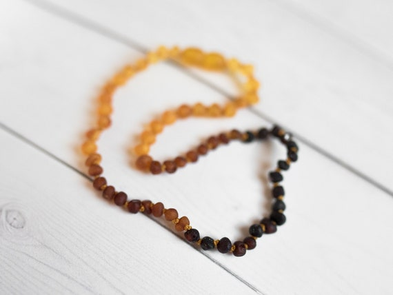 Raw Ombre Baltic Amber Teething Necklace For Babies Amber