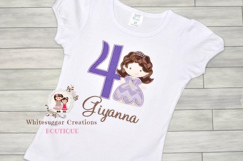 Embroidered Sofia Princess Birthday Shirt for Girls