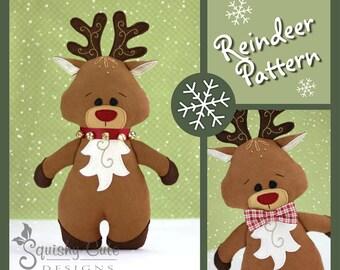 MTO Rudolph the Red Nosed Reindeer Plush 15 Reindeer Santa/'s Reindeer Rudy Reindeer