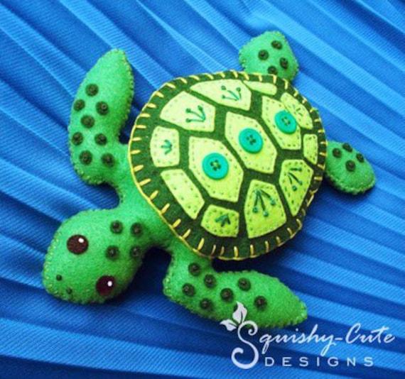 Sea Turtle Sewing Pattern Pdf Stuffed Animal Felt Plushie Etsy