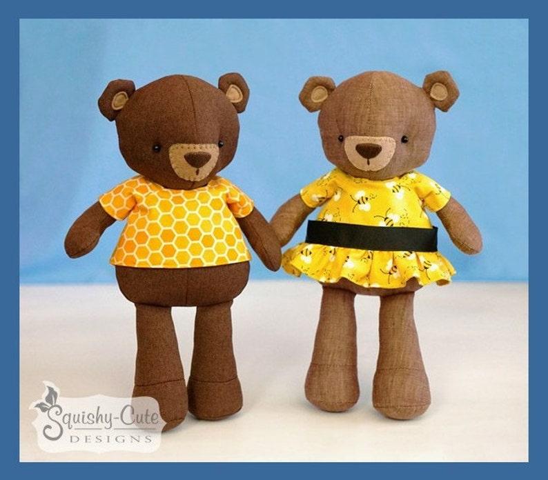 Teddy Bear Sewing Pattern PDF Bear Stuffed Animal Doll  3de57b4cc742