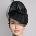 Straw Braid Hat, Millinery With Pleated Crin Twist, Ideal Hat for Derby or Royal Ascot, Mother of the Bride - Misty
