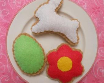 Felt Food Spring Easter Cookies