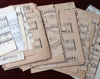 Vintage Music Pack for Journal/Scrapbook/Paper Crafts - 50 Sheets