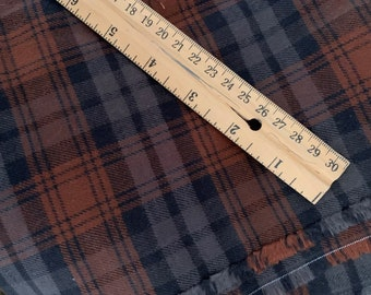 Brown Plaid Flannel Fabric - Dress or Shirts