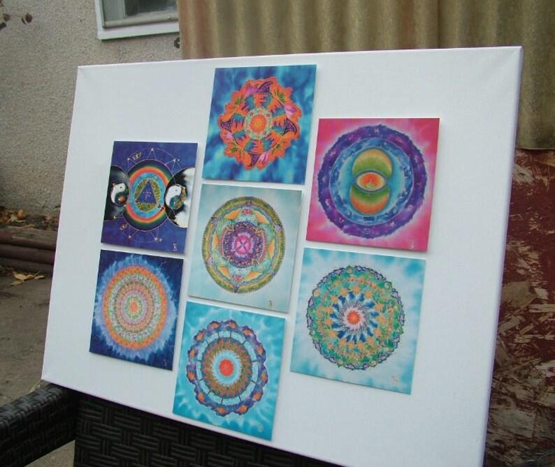 Mandala Greeting Cards Set 2  Meditation Spiritual Art Silk image 0